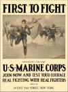 """Democracy's Vanguard"" U.S. Marine Corps First to Fight Poster"