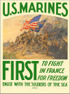 """First to Fight in France for Freedom"" - U.S. Marines"