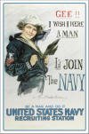 """Gee!! I Wish I Were A Man"" (Navy) Color Poster"