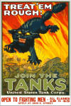 "WWI Color Poster: ""Join The Tanks"" - 17"" X 22"" Size"