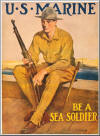 "USMC ""Be A Sea Soldier"" - Holding a Springfield M1903 Rifle"