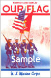 "Color ""Respect and Display Our Flag"" U.S. Marine Corps POSTER"