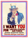 "Uncle Sam ""I want you for United States Air Force"""