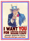 "Uncle Sam ""I want you for United States Marine Corps"""